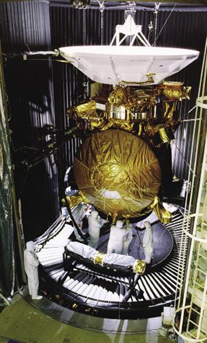 La sonda Cassini con la copertura rinforzata dai nastri in Kapton - Fonte NASA