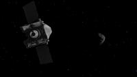 Rappresentazione artistica della sonda OSIRIS-REx. Credit: NASA