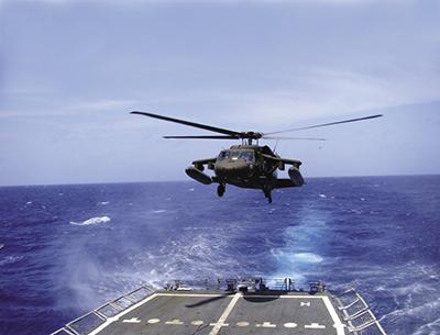 Elicottero Black Hawke, nel quale è stato integrato l'ISHM. Fonte: NASA