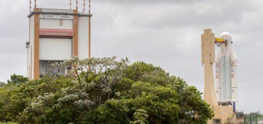Ariane V - VA236 presso l'Integration Building. Fonte: Arianespace