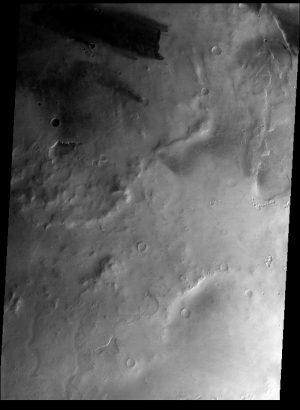 Il terminatore giorno-notte ripreso sopra l'emisfero meridionale di Marte dallo strumento CaSSIS di TGO. Credits: ESA
