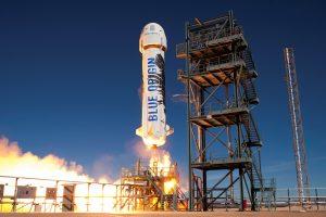 Uno dei decolli di New Shepard Credits: Blue Origin