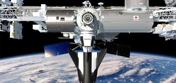 Il Dream Chaser Cargo sulla ISS in una rappresentazione artistica Credits: SNC
