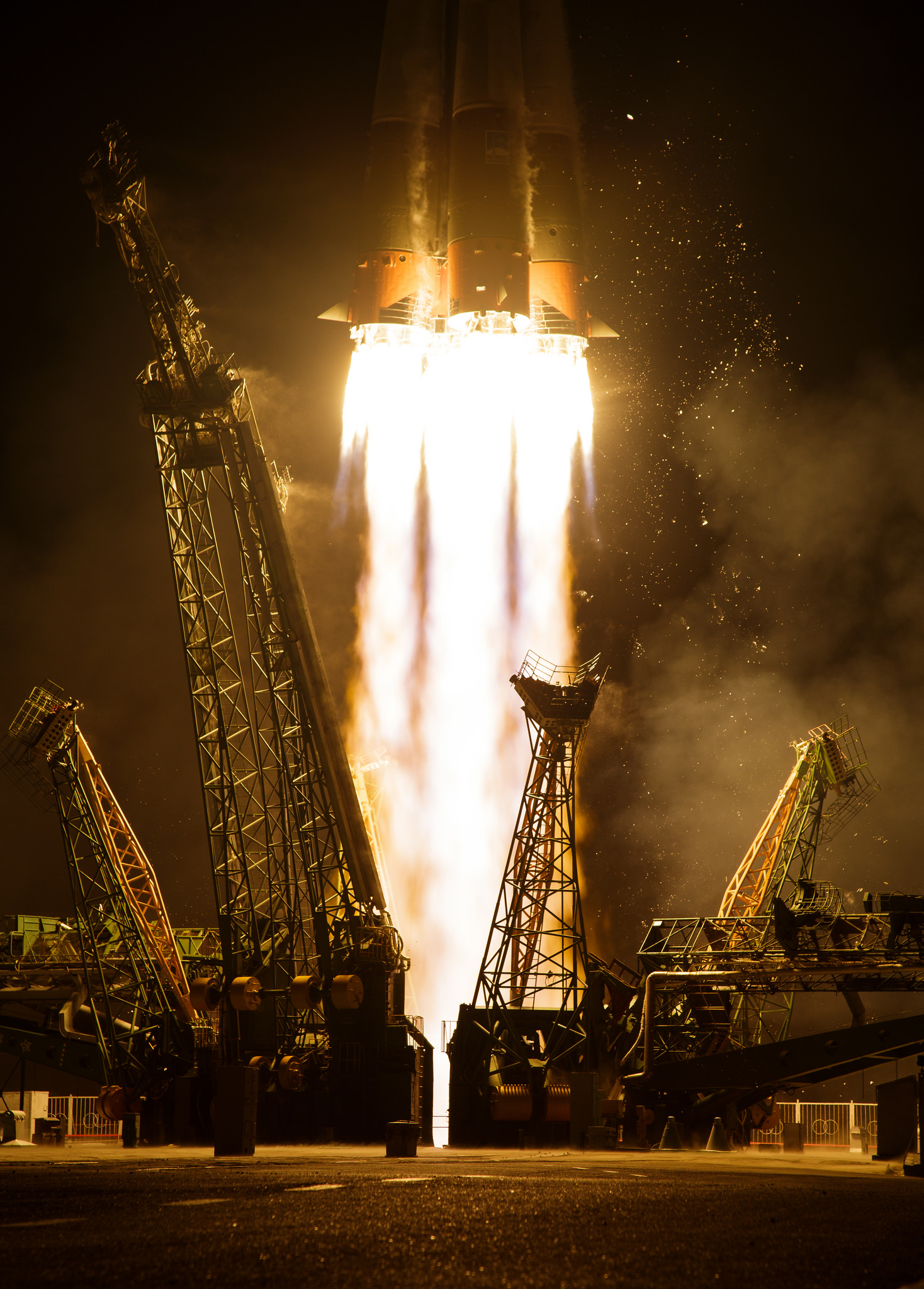 Liftoff Soyuz MS-05. Credits NASA HQ