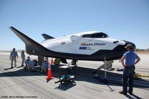 Il Dream Chaser in preparazione sulla pista. Credits: Sierra Nevada Corporation