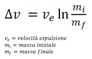 Equazione del razzo di Tsiolkovsky