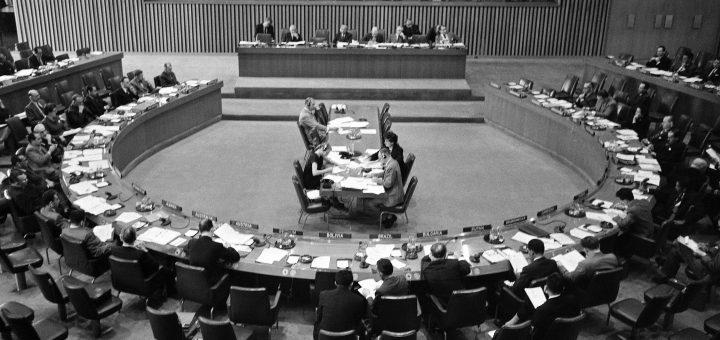 La prima riunione del COPUOS il 13 dicembre 1958 Credits: UN