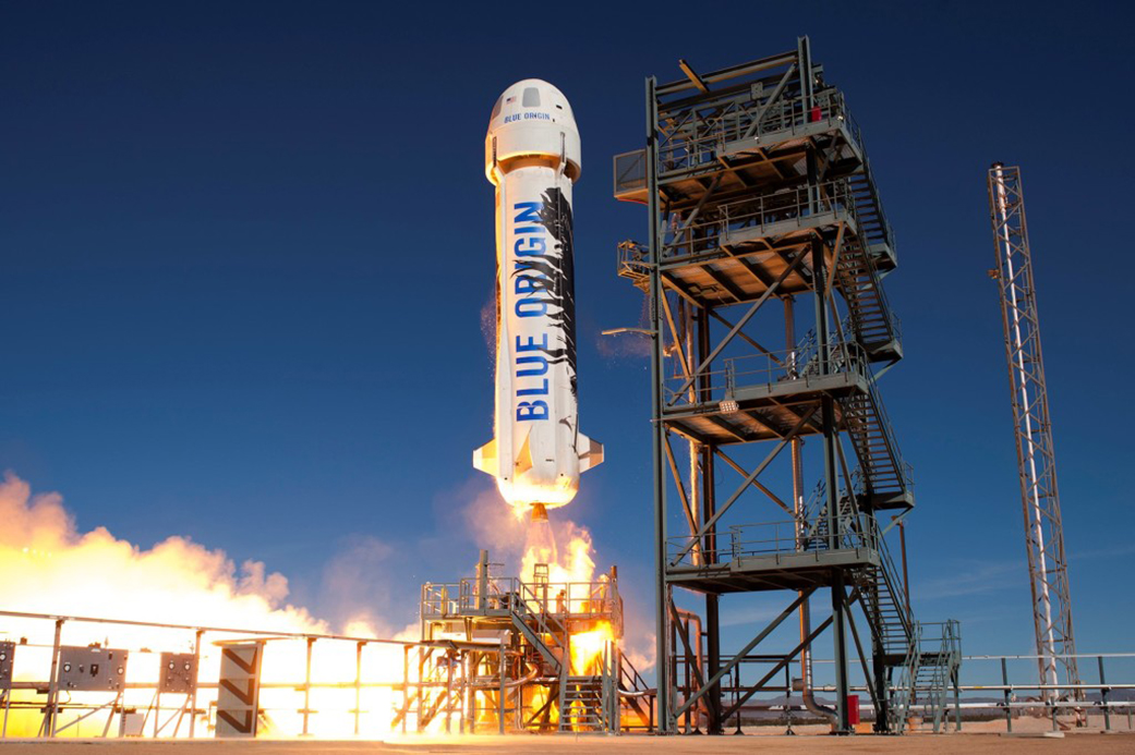 Decollo del New Shepard Credits: Blue Origin