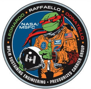 Il logo dei MPLM Credits: NASA, Mirage Studios