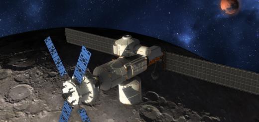 Elaborazione artistica del Lunar Gateway secondo Lockheed Martin Credits: Lockheed Martin