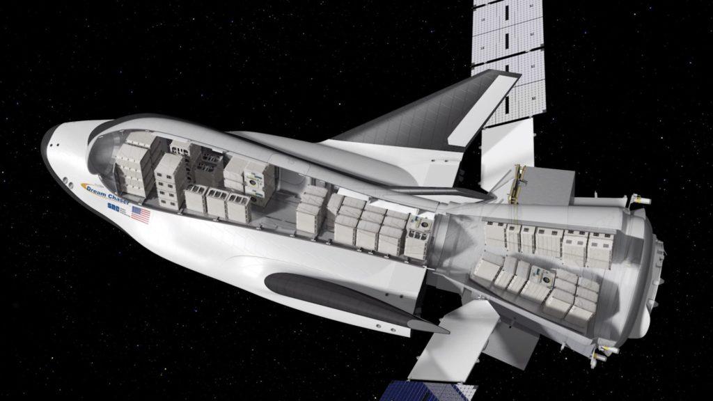 Una possibile configurazione dei carichi su Dream Chaser e Shooting Star Credit: Sierra Nevada Corp.