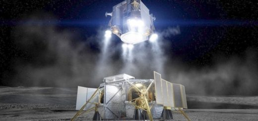 Rappresentazione artistica del lander lunare di Boeing. Credit: Boeing