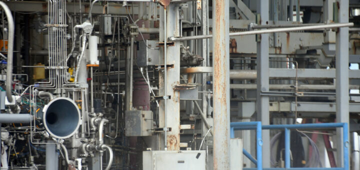La camera di combustione del motore M10 posizionata sullo stand di prova presso il centro Marshall Fonte: ESA