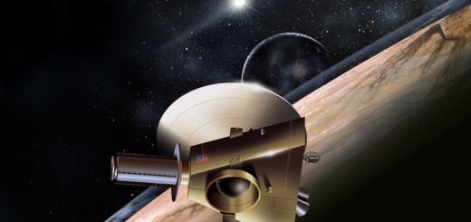 Rappresentazione artistic di New Horizons e Plutone. Credit: NASA