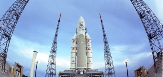 Il vettore ariane 5 in rampa. Credits: Arianespace