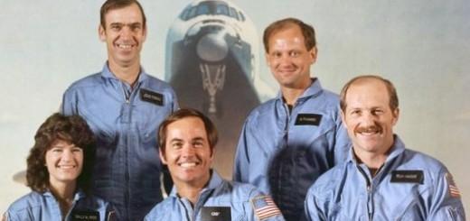L'equipaggio di STS-7. (C) NASA