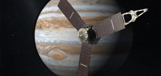 Rendering di Juno su Giove. Credit: NASA/JPL