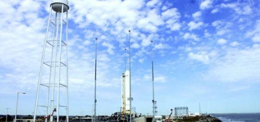 Il vettore Antares sulla rampa il 27/12/2012