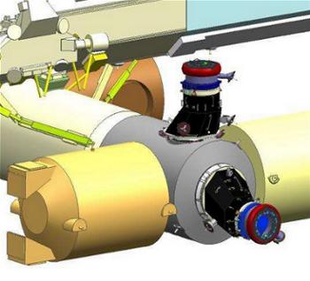 Una rappresentazione grafica degli adattatori IDA montati sui PMAs del Node-2 (C) NASA, Wikipedia.