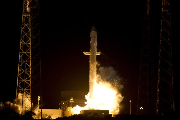 Il decollo della missione CRS-1 avvenuto il 7 Ottobre 2012 dallo Space Launch Complex 40 nella Cape Canaveral Air Force Station in Florida. (C) NASA