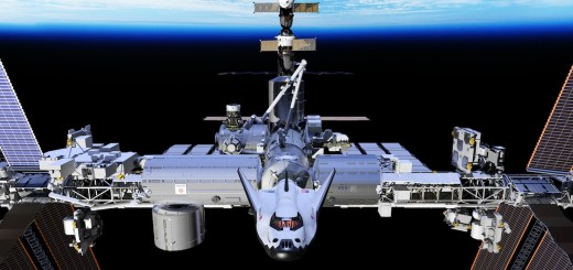 Rendering of Dream Chaser Docked to ISS