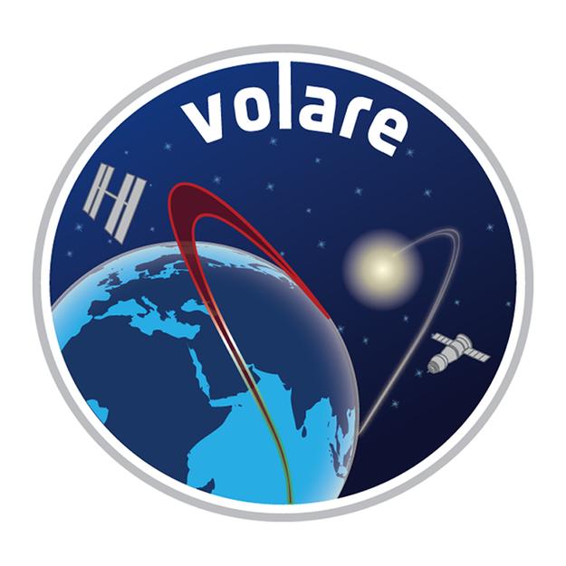 La patch della missione Volare