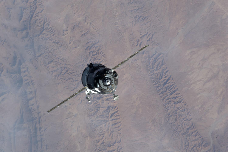 La Soyuz TMA-07M in avvicinamento alla ISS. Fonte: NASA