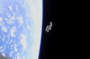 Suitsat-1 appena dopo il rilascio dalla ISS