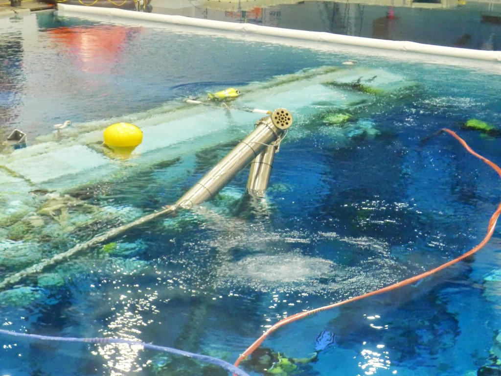 Il braccio robotico Canadarm 2 del NBL al JSC. Fonte: Samantha Cristoforetti