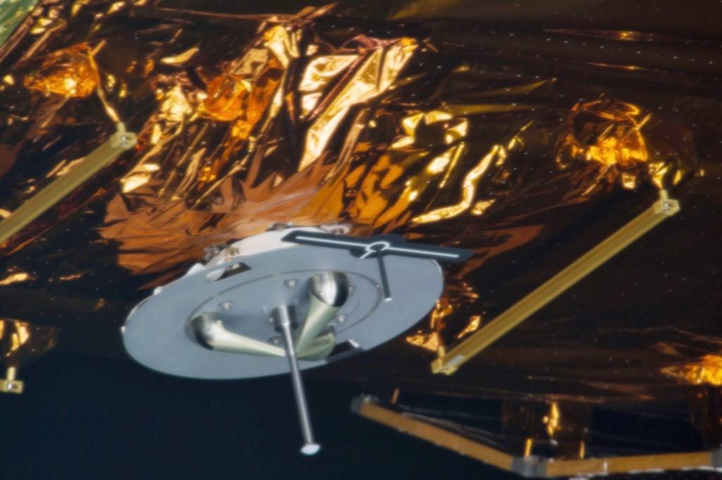 Il perno di presa e il bersaglio di HTV-4. Fonte: NASA