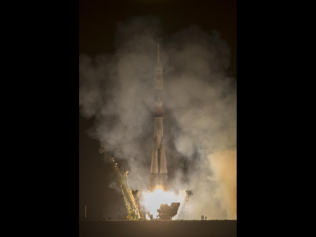 Il liftoff della Soyuz TMA-10M è avvenuto il 25 Settembre alle ore 22:58 italiane dal Cosmodromo di Baikonur, in Kazzakhstan. Photo credit: NASA/Carla Cioffi
