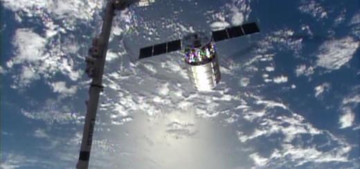 La Capsula Cygnus appena distaccata dalla ISS. Credit: NASA.
