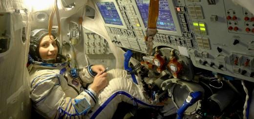 Samantha Cristoforetti nel simulatore Soyuz a Star City. Fonte: Samantha Cristoforetti