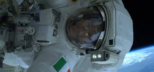 Luca Parmitano durante la prima EVA (NASA/ESA)