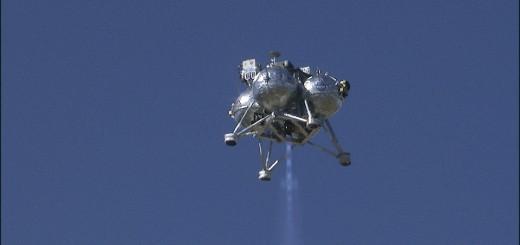 Il veicolo Morpheus Bravo durante il volo di test FF05. (c) NASA