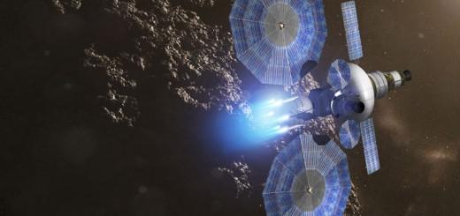 Immagine artistica dei pannelli solari ad alta potenza Megaflex.  Credit: ATK.  (PRNewsFoto/ATK)