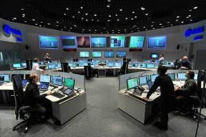 La Main Control Room presso ESA/ESOC di Darmstadt, Germania