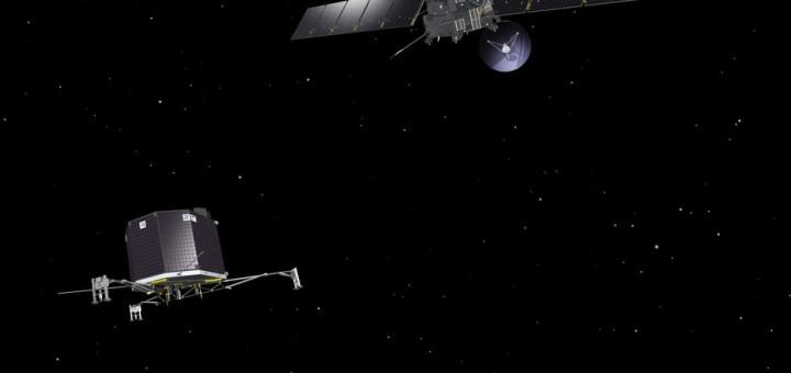 Rappresentazione artistica di Rosetta e Philae. (C) ESA