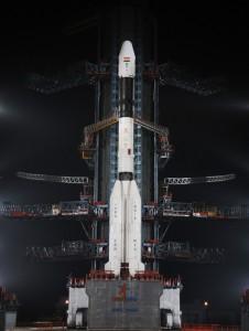 IL Razzo GLSV-D5 con il satellite GSAT14 pronto per il lancio. Credit: ISRO.