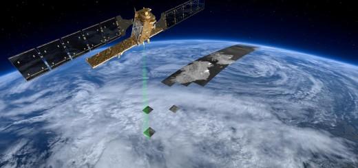 Una rappresentazione artistica di Sentinel-1A al lavoro. (C) ESA/ATG medialab