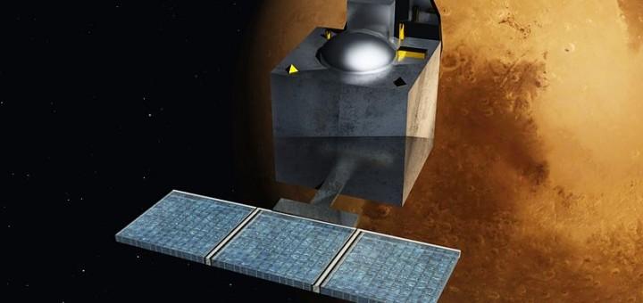 """""""Mars Orbiter Mission - India - ArtistsConcept"""" di Nesnad - Opera propria. Con licenza Creative Commons Attribution-Share Alike 3.0-2.5-2.0-1.0 tramite Wikimedia Commons - http://commons.wikimedia.org/wiki/File:Mars_Orbiter_Mission_-_India_-_ArtistsConcept.jpg#mediaviewer/File:Mars_Orbiter_Mission_-_India_-_ArtistsConcept.jpg"""