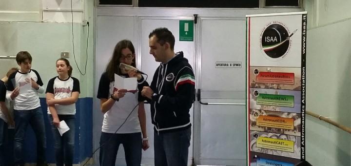Il contatto ARISS con Samantha Cristoforetti della scuola Locatelli-Oriani di Milano. Credit: Luca Frigerio