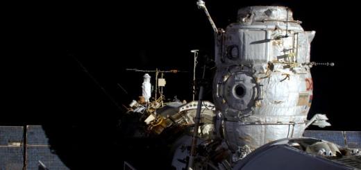 Il boccaporto di attracco del modulo Pirs rimasto libero per il mancato arrivo della Progress M-27M / 59P. Credit: ESA/NASA