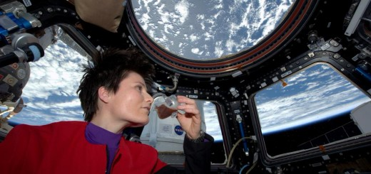 """Coffee: the finest organic suspension ever devised."" Fresh espresso in the new Zero-G cup! To boldly brew... - © astrosamantha on flickr/twitter"