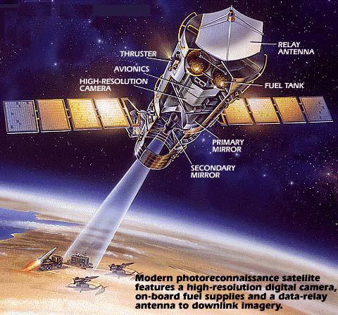 Rappresentazione ipotizzata di un satellite KH-11. Credit: trendsbuzz.com