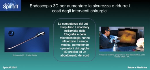 Endoscopio 3D per interventi chirurgici @NASA / JPL / Veronica Remondini