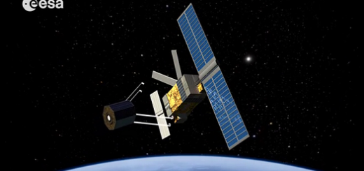 Una prima raffigurazione della missione e.Deorbit (ESA)