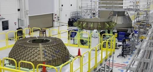 Il modello per i test strutturali dello Starliner CST-100 in costruzione al C3PF (foto NASA/Kim Shiflett)