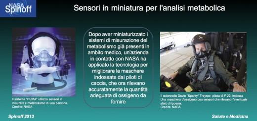 Sensori in miniatura per rilevare l'adeguato apporto di ossigeno © NASA / Veronica Remondini
