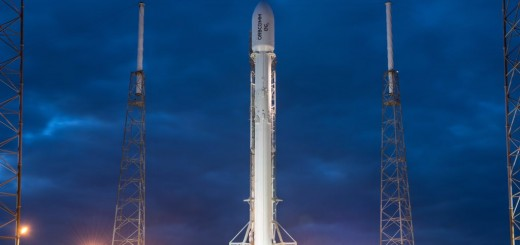Falcon 9 in rampa per la missione Orbcomm-OG2. credit: SpaceX